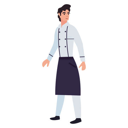 chef man profession labour day vector illustration design