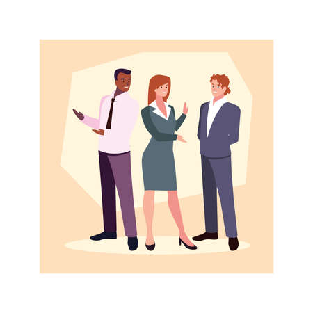 group of people business standing , business professional people vector illustration design
