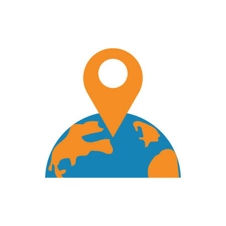 Gps mark and world design, Map travel navigation route road location technology search street and direction theme Vector illustration