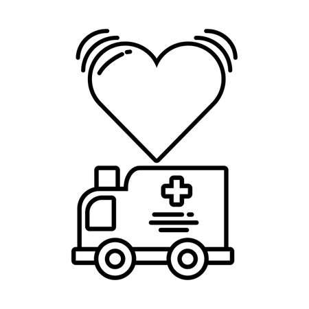 ambulance car on white background vector illustration design