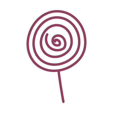 colorful lollipop on white background, line style icon vector illustration design Ilustração