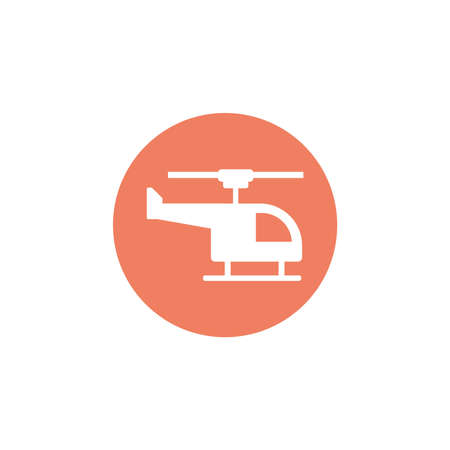 medical helicopter, block and flat style icon vector illustration design