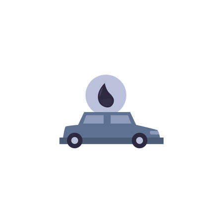 Car and oil drop design, Gas energy fuel technology power industrial production and petroleum theme Vector illustration