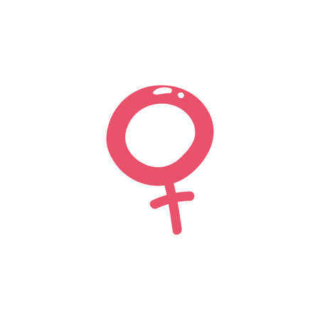 Female icon design of Gender people person washroom human symbol wc bathroom sex public and sexual theme Vector illustration