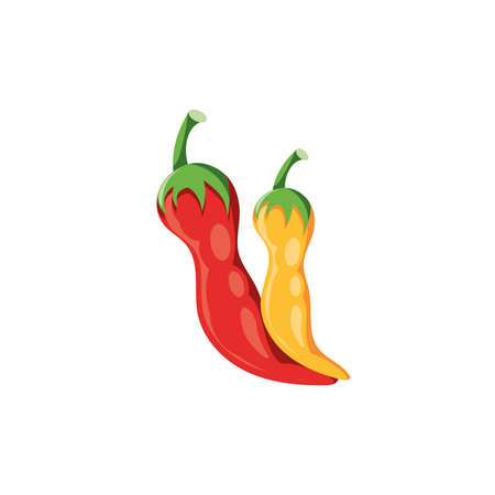 peppers mexican in white background vector illustration design Ilustração