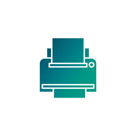 office equipment printer, gradient style icon vector illustration design