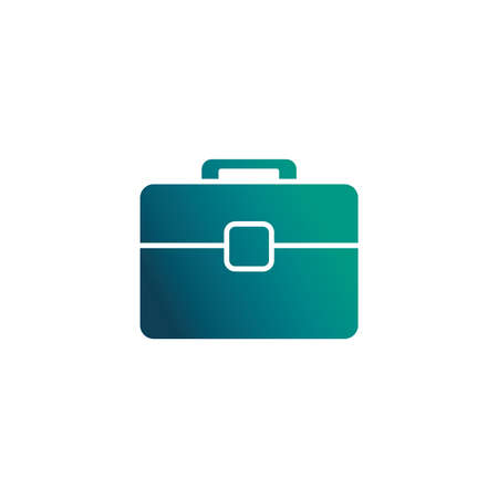 briefcase business bag for document , gradient style icon vector illustration design