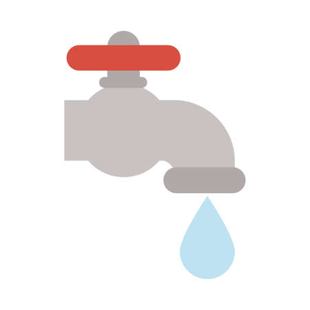 faucet dripping on white background vector illustration design Ilustração