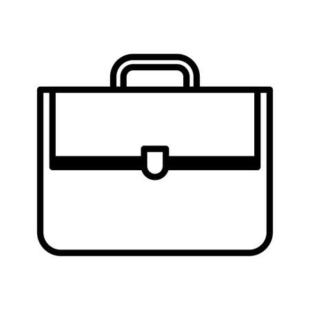 briefcase business bag for document on white background vector illustration design Ilustração