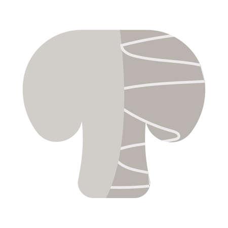 fresh and healthy vegetable, champignon on white background vector illustration design