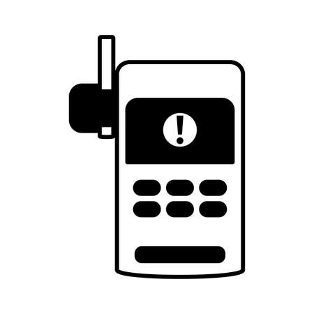 security walkie talkie on white background vector illustration design Ilustração