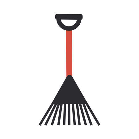 gardening rake on white background vector illustration design