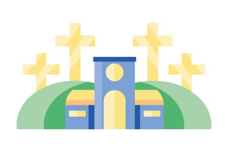 catholic church on white background vector illustration design Ilustração