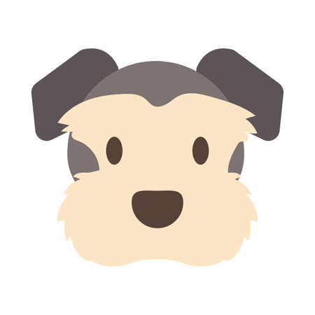 head of cute dog on white background vector illustration design