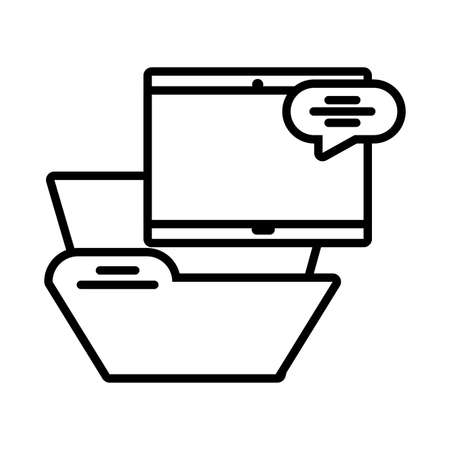 elements of the digital world on white background vector illustration design
