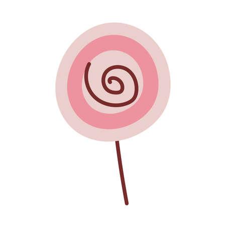 colorful lollipop on white background vector illustration design Ilustração