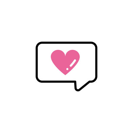 speech bubble, line style and color vector illustration design