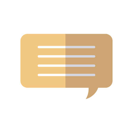 speech bubble icon over white background, flat style, vector illustration