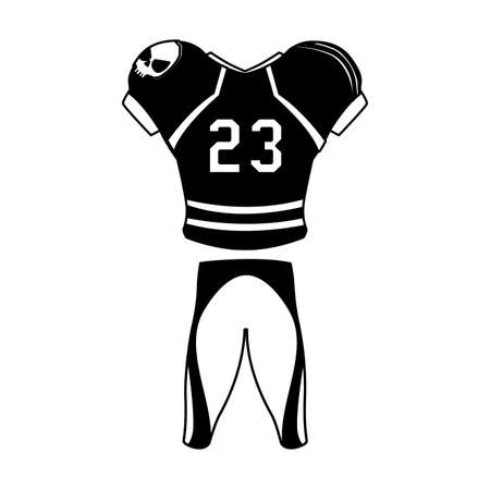 american football player outfit sportsuit vector illustration design