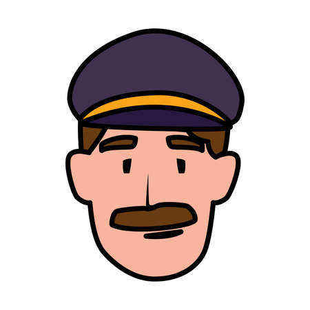 pilot person design, Worker professional working occupation job corporate employee and service theme Vector illustration  イラスト・ベクター素材