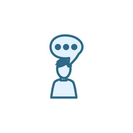 Communication bubble icon design, Message discussion conversation talk and technology Vector illustration Ilustração