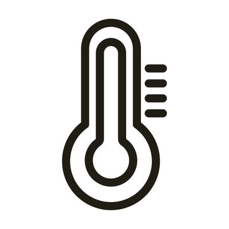 climate thermometer, line style icon vector illustration design 向量圖像