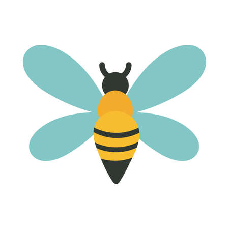 cute bee on white background vector illustration design