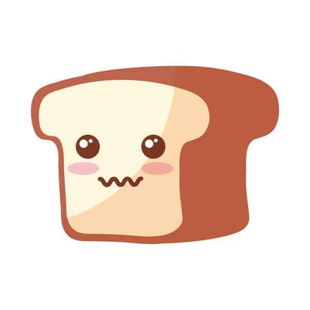 bakery bread on white background vector illustration design