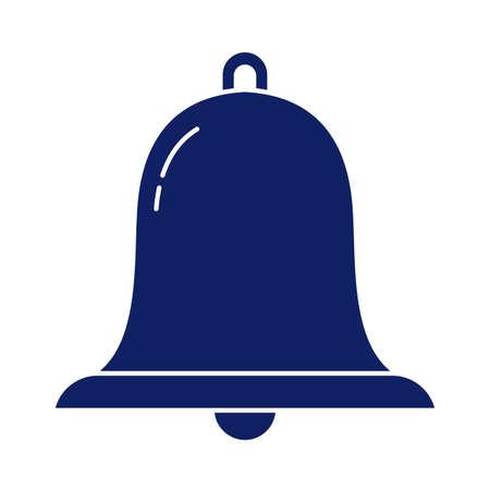 alarm bell, silhouette style icon vector illustration design