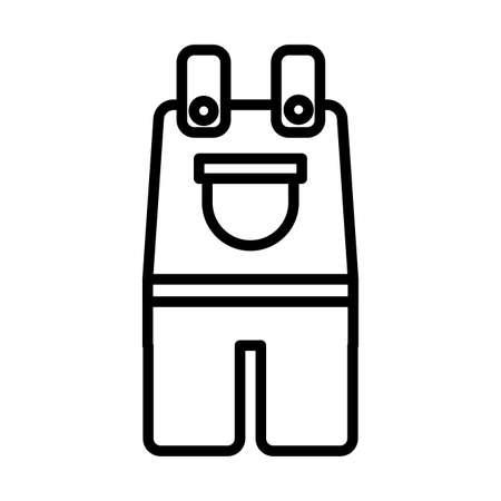 gardening overalls , line style icon vector illustration design
