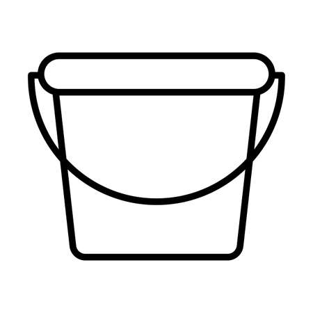 gardening bucket , line style icon vector illustration design
