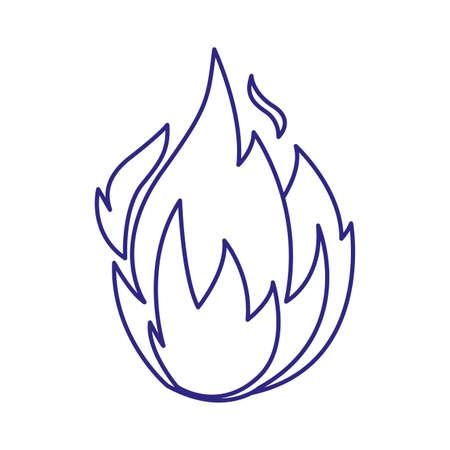 Flame design of Fire bonfire hot burn light flammable heat and campfire theme Vector illustration 向量圖像