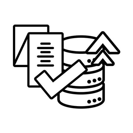 cloud database seo icons in white background vector illustration design  イラスト・ベクター素材