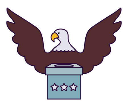 Eagle and vote box design, Usa happy presidents day elections united states america independence nation us country and national theme Vector illustration