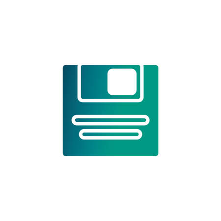 computer diskette , gradient style icon vector illustration design Illustration