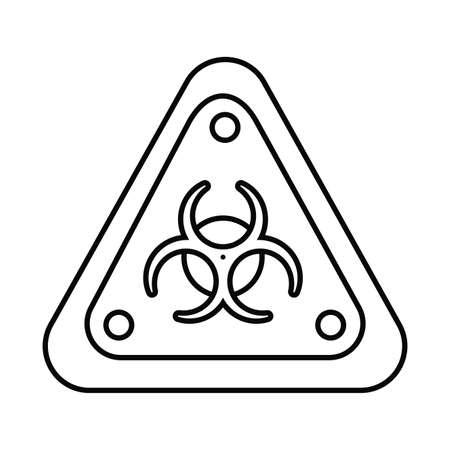 biohazard sign, line style icon vector illustration design Illustration