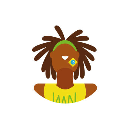 Avatar man from brazil design, Brazilian carnival culture tourism travel south latin america country and traditional theme Vector illustration