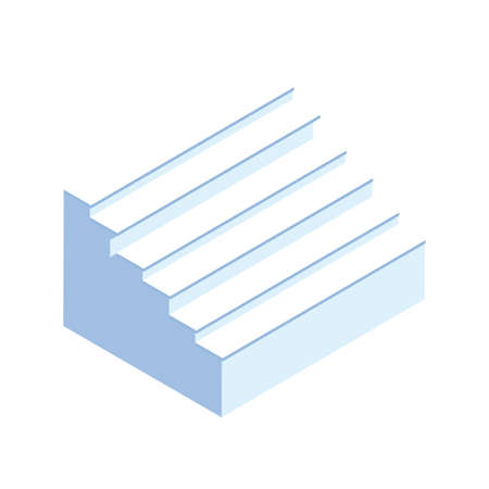 stairs of indoors on white background vector illustration design