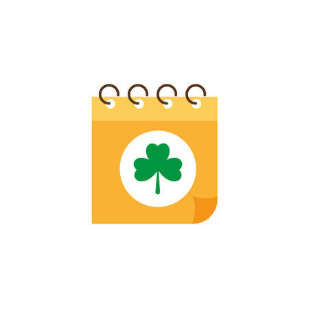 calendar reminder st patrick day, flat style icon vector illustration design