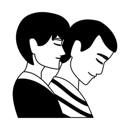 young men on white background vector illustration design