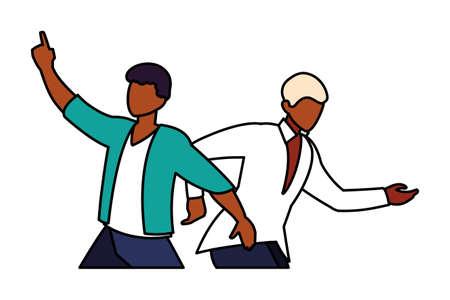 scene of men in dance pose, party, dance club vector illustration design 版權商用圖片 - 143526460