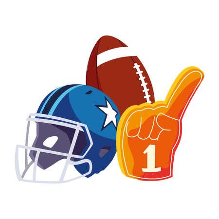 set of icons american football on white background vector illustration design Illustration