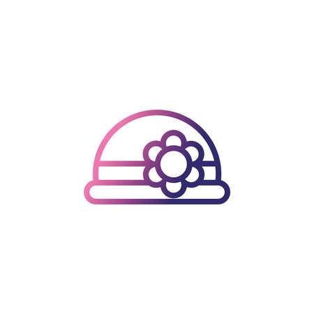 woman hat, gradient style icon vector illustration design