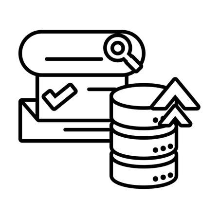 cloud database seo icons in white background vector illustration design 向量圖像