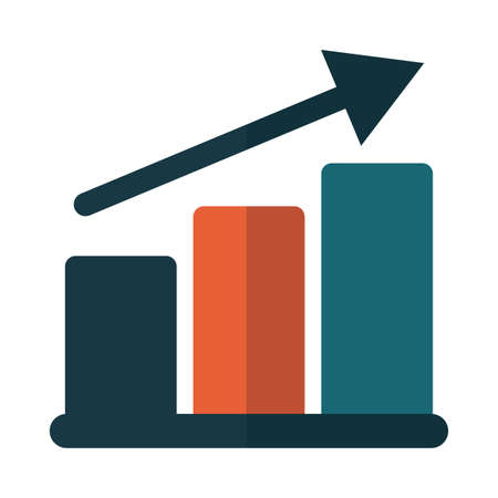 bar graph in white background vector illustration design Ilustração