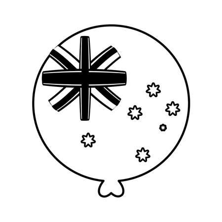 helium balloon with australia flag on white background vector illustration design
