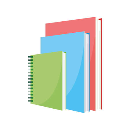 school notebook with text books vector illustration design Ilustracja