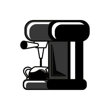 machine coffee with teapot isolated icon vector illustration design 向量圖像