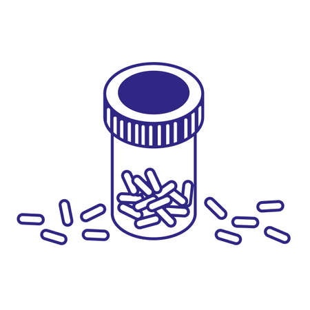 Pills and jar design of Medical care health hospital emergency aid and clinic theme Vector illustration