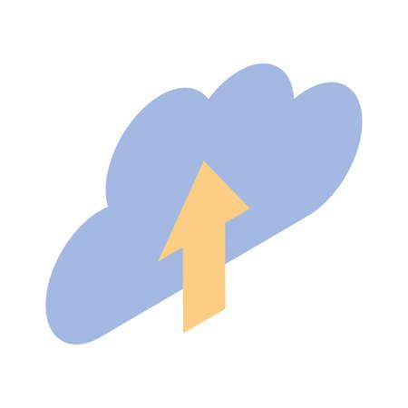 upload information in white background vector illustration design